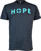 Unisex Charcoal HOPE Crewneck with Green Lettering image 1