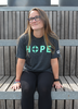 Unisex Charcoal HOPE Crewneck with Green Lettering image 3