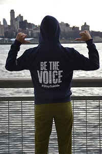 Unisex Navy Be the Voice Pullover