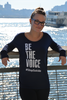 Women's Midnight Blue Be the Voice Long Sleeve Shirt image 3