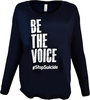 Women's Midnight Blue Be the Voice Long Sleeve Shirt image 1