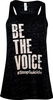 Women's Black Marble Be the Voice Tank Top image 1