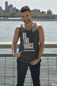Unisex Charcoal Be the Voice Tank Top