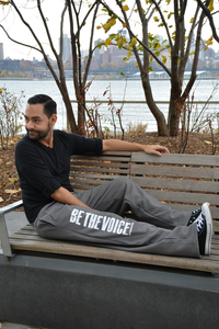 Unisex Slate Gray Be the Voice Sweatpants
