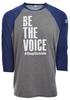 Unisex Be the Voice Baseball Shirt image 1