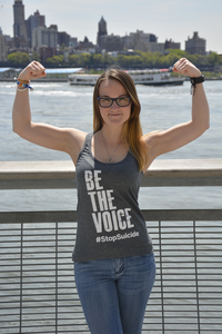 Women's Gray Be the Voice Racerback Tank Top