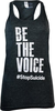 Women's Gray Be the Voice Racerback Tank Top image 1