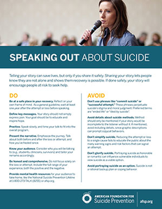 Speaking Out About Suicide Flyer