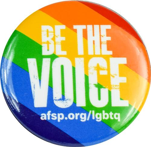 LGBTQ Be the Voice Button