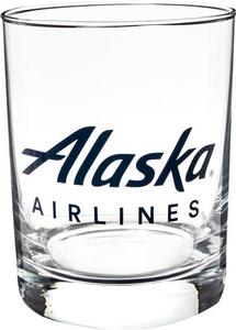 Alaska Airlines 14 oz Rocks Glass