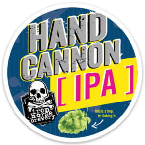 Hand Cannon Tap Stickers (25 pack)