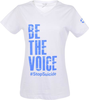 Women's White Be the Voice V-Neck image 1