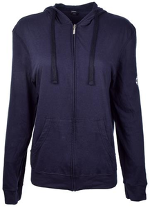 Women's Navy Be the Voice Zip-Up Hoodie