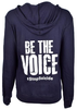 Women's Navy Be the Voice Zip-Up Hoodie image 3