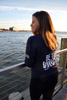 Women's Navy Be the Voice Zip-Up Hoodie image 4