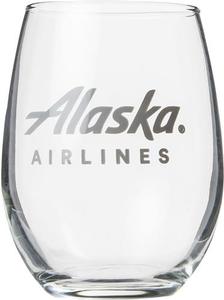 Alaska Airlines 9 oz Wine Glass
