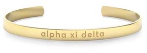 Nava New York Sorority Cuff - Alpha Xi Delta
