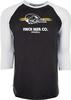 Finch Beer Skull Logo Baseball Tee image 1