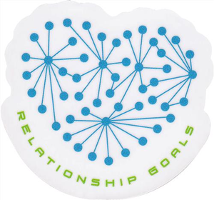 Relationship Goals Sticker - Small