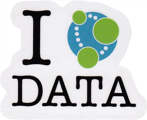 I Love Data Sticker - Small