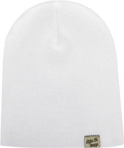 Woven Label Beanie - Alpha Chi Omega