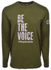 Unisex Military Green Be the Voice Long Sleeve Shirt image 1