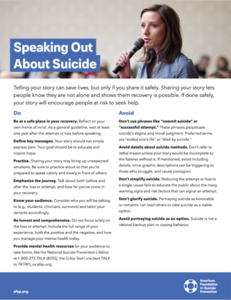 Speaking Out About Suicide Flyer (Pack of 25)