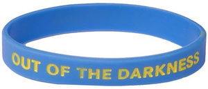 Blue Out of the Darkness Wristband