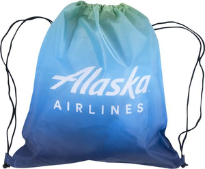 Alaska Airlines Drawstring Bag