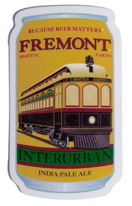 Interurban IPA Can Sticker