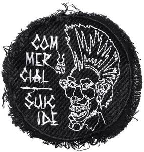"4"" Circular Embroidered Punk Patch"