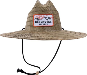 Deschutes Brewery Sun Mountain Patch Straw Hat