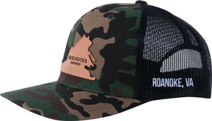 Deschutes Brewery Leather VA Patch Trucker Hat