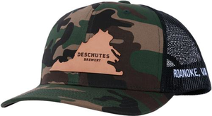 Deschutes Brewery Leather VA Patch Trucker Hat