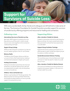 Support for Survivors of Suicide Loss Flyer (Pack of 25)