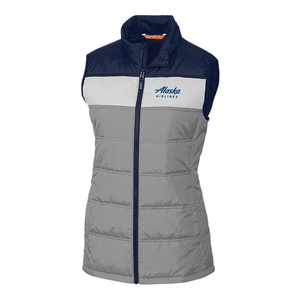 Alaska Airlines Vest Cutter and Buck Ladies Insulated Packable
