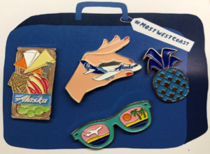 Alaska Airlines Custom Enamel Pin Set