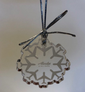 Alaska Airlines Snowflake Ornament